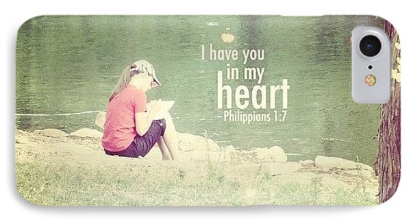 ...i Have You In My Heart... IPhone Case by Traci Beeson