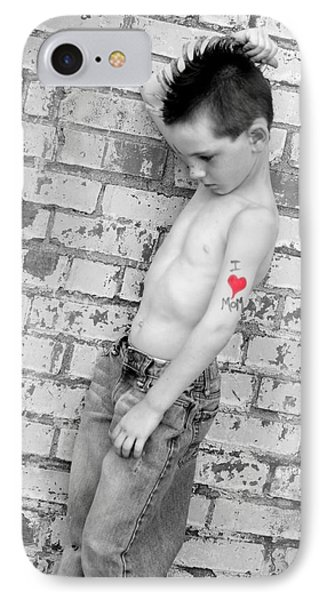 IPhone Case featuring the photograph I Heart Mom by Kelly Hazel