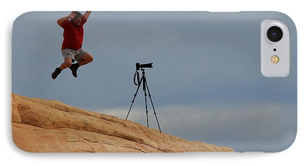 I Think He Got The Shot Phone Case by Vivian Christopher