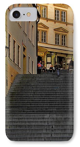 I Walked The Streets Of Prague Phone Case by Christine Till