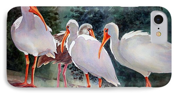 IPhone Case featuring the painting Ibis - Youngster Among Us. by Roxanne Tobaison