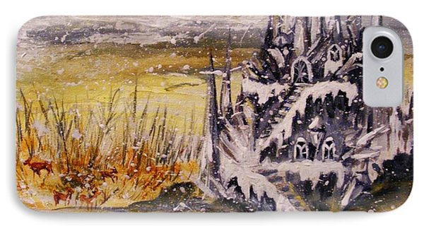 IPhone Case featuring the painting Ice Castle by Karen  Ferrand Carroll