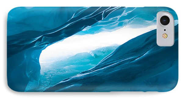 Ice Cave On The Glacier Phone Case by John White