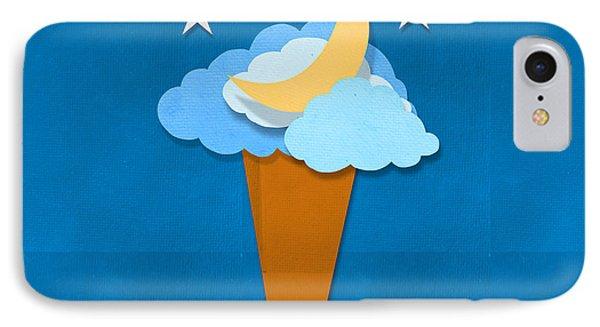Ice Cream Design On Hand Made Paper Phone Case by Setsiri Silapasuwanchai