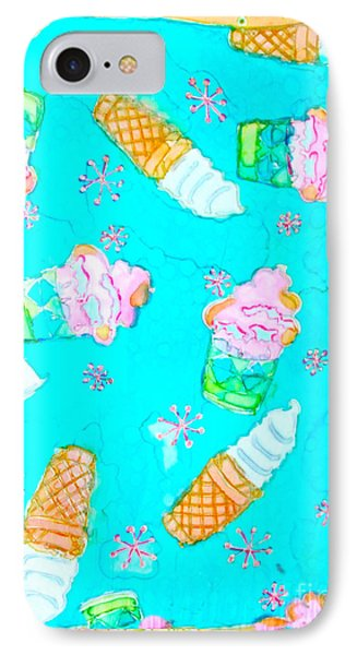 Ice Cream I Scream IPhone Case by Beth Saffer