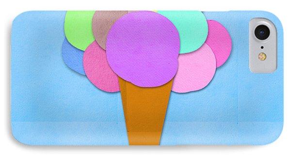 Ice iPhone 7 Case - Ice Cream On Hand Made Paper by Setsiri Silapasuwanchai