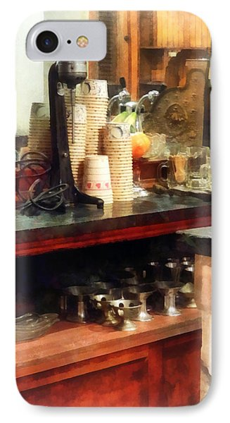 Ice Cream Parlor Phone Case by Susan Savad