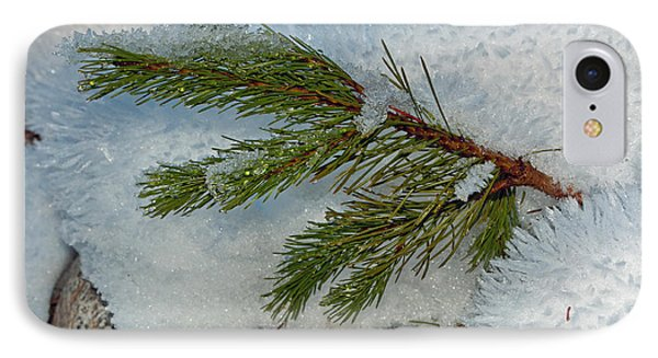 IPhone Case featuring the photograph Ice Crystals And Pine Needles by Tikvah's Hope