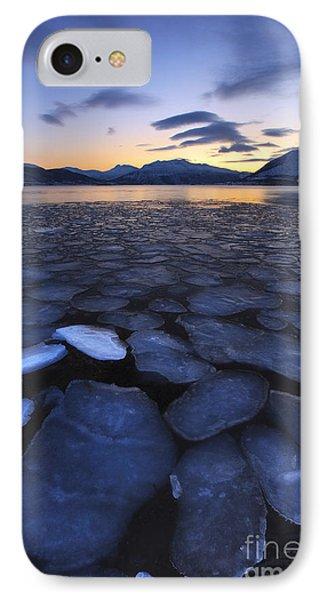 Ice Flakes Drifting Towards IPhone Case by Arild Heitmann