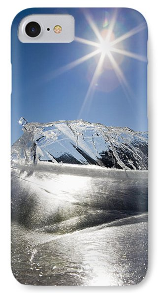 Ice Formations On A Frozen Lake Phone Case by Michael Interisano