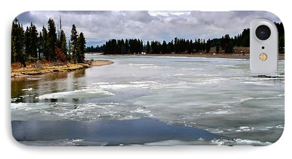 Ice On The Yellowstone River Phone Case by Ellen Heaverlo
