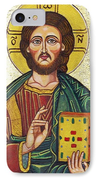 Icon Of Jesus As Christ Pantocrator Phone Case by Ion vincent DAnu