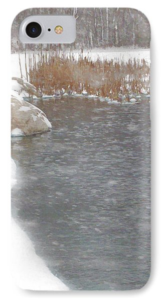 IPhone Case featuring the photograph Icy Pond by John Crothers