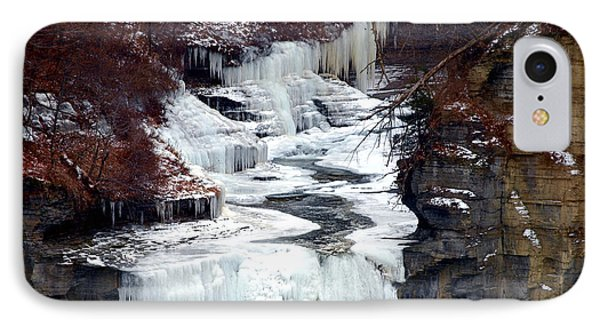 Icy Waterfalls Phone Case by Paul Ge