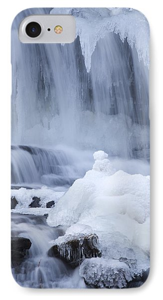 Icy Winter Waterfall Phone Case by John Stephens