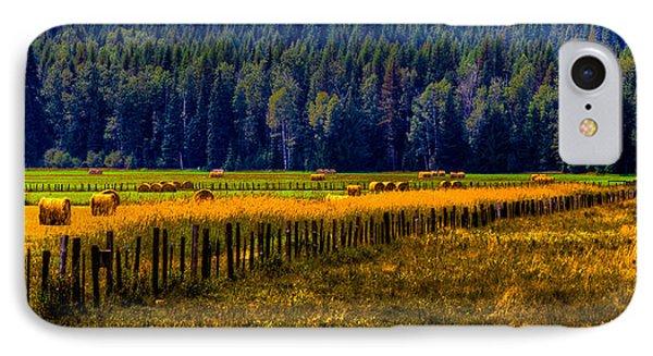 Idaho Hay Bales  Phone Case by David Patterson