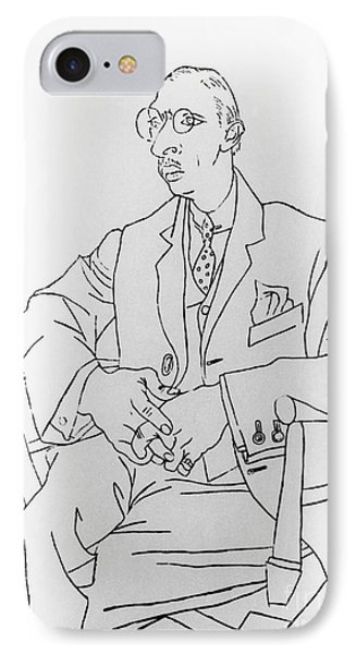 Igor Stravinsky, Russian Composer Phone Case by Omikron