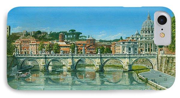 Il Fiumi Tevere Roma IPhone Case by Richard Harpum