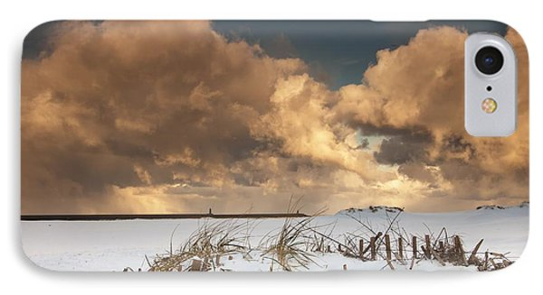 Illuminated Clouds Glowing Above A Phone Case by John Short