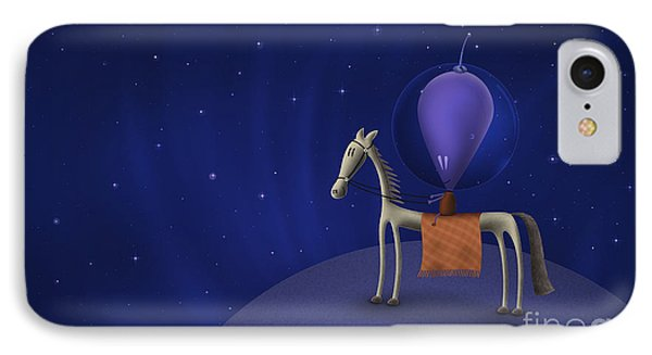 Illustration Of A Martian Riding Phone Case by Vlad Gerasimov