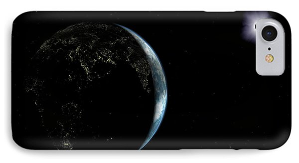 Illustration Of The City Lights IPhone Case by Walter Myers