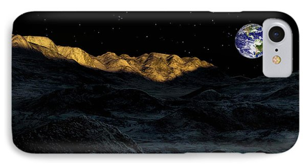 Illustration Of The Peaks Surrounding Phone Case by Ron Miller