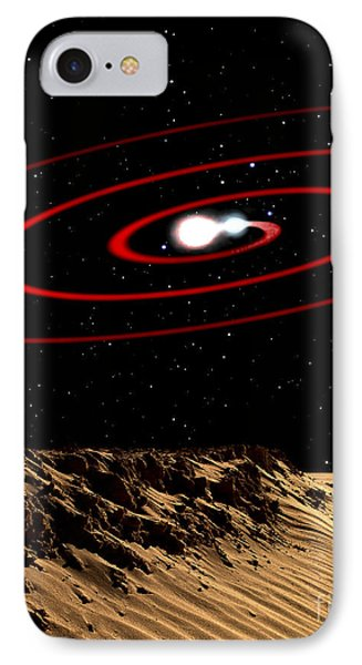 Illustration Of Two Stars That IPhone Case
