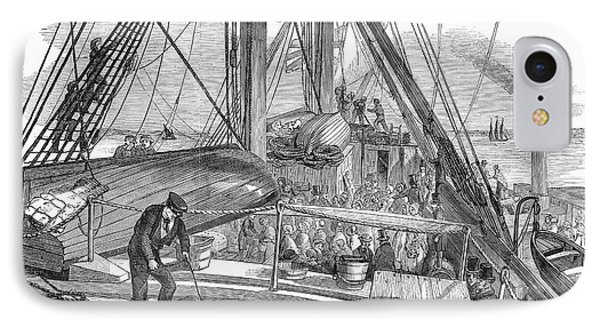 Immigrant Ship, 1850 IPhone Case