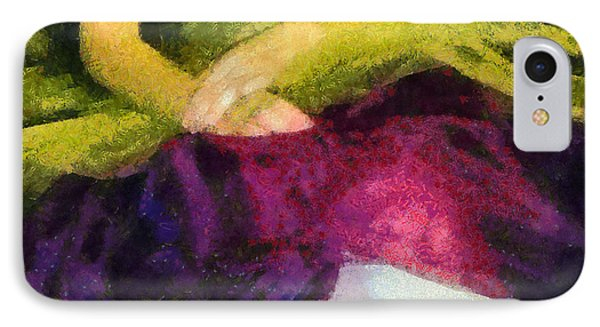 Impression Of A Ballerina Lap Phone Case by Angelina Vick