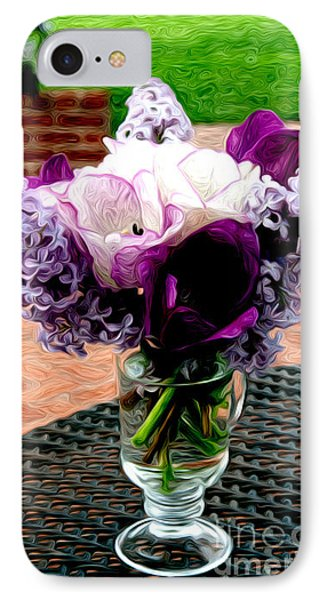IPhone Case featuring the photograph Impressionist Floral Bouquet by Karen Lee Ensley