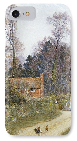 In A Witley Lane Phone Case by Helen Allingham