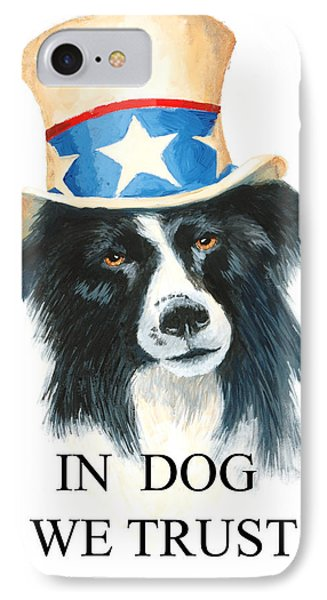 In Dog We Trust Greeting Card Phone Case by Jerry McElroy