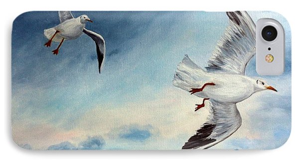 IPhone Case featuring the painting In Flight by Julie Brugh Riffey