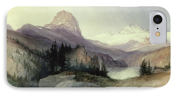 In The Bighorn Mountains Phone Case by Thomas Moran