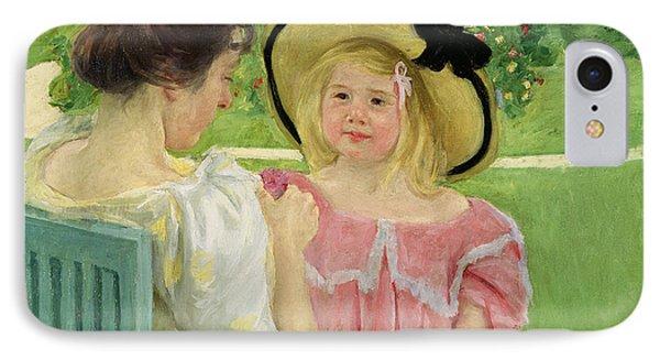 In The Garden Phone Case by Mary Stevenson Cassatt