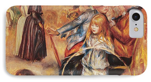 In The Luxembourg Gardens Phone Case by Pierre Auguste Renoir