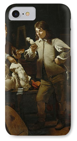 In The Studio Phone Case by Michael Sweerts