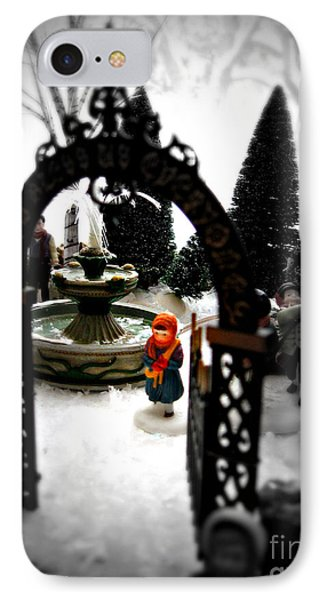 IPhone Case featuring the photograph In The Village by Nancy Dole McGuigan