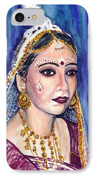 Indian Bride  Phone Case by Clara Sue Beym