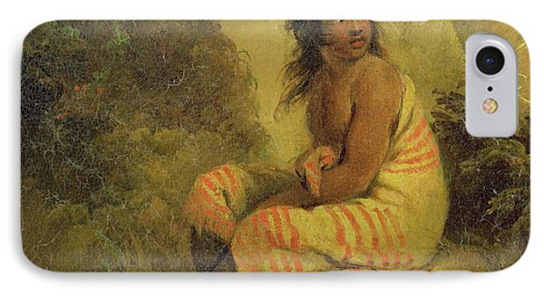 Indian Girl Phone Case by George Morland