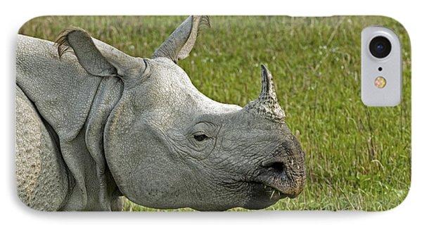 Indian Rhinoceros Phone Case by Tony Camacho