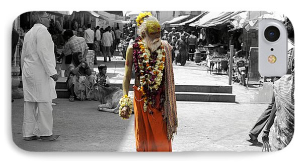 Indian Sadhu At A Religious Spot In India Phone Case by Sumit Mehndiratta