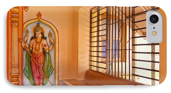 Indian Temple Bench And Artwork Phone Case by Inti St. Clair