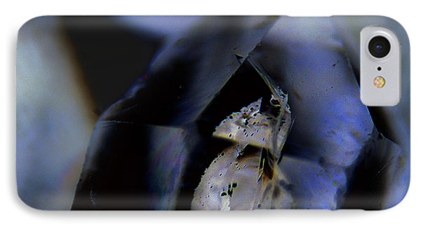 IPhone Case featuring the photograph Indigo Quartz Crystal by Vicki Ferrari