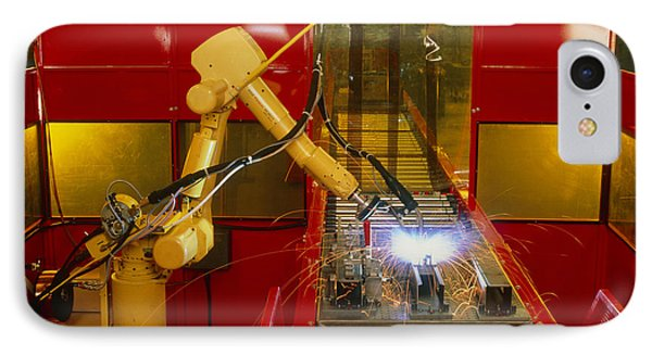 Industrial Robot Welding On Production Line Phone Case by David Parker600-group