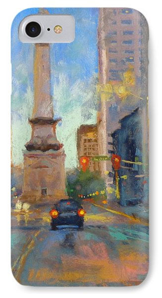 Indy Monument At Twilight Phone Case by Donna Shortt