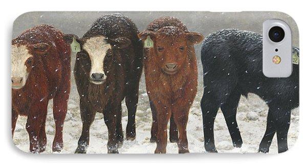 Inquisitive Calves IPhone Case