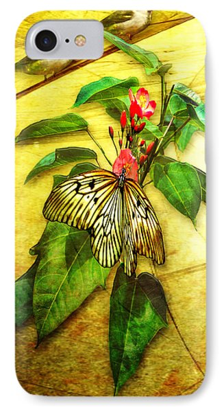 Insect - Butterfly - Sparrow - Happy Summer  IPhone Case by Yvon van der Wijk
