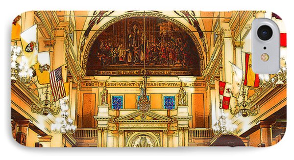 Inside St Louis Cathedral Jackson Square French Quarter New Orleans Digital Art Phone Case by Shawn O'Brien