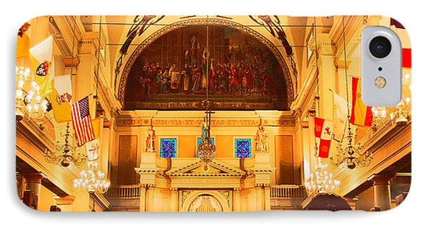 Inside St Louis Cathedral Jackson Square French Quarter New Orleans Film Grain Digital Art Phone Case by Shawn O'Brien